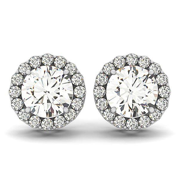 0.75 ctw Diamond VS/SI Certified Halo 14k White Gold - REF-52X8A