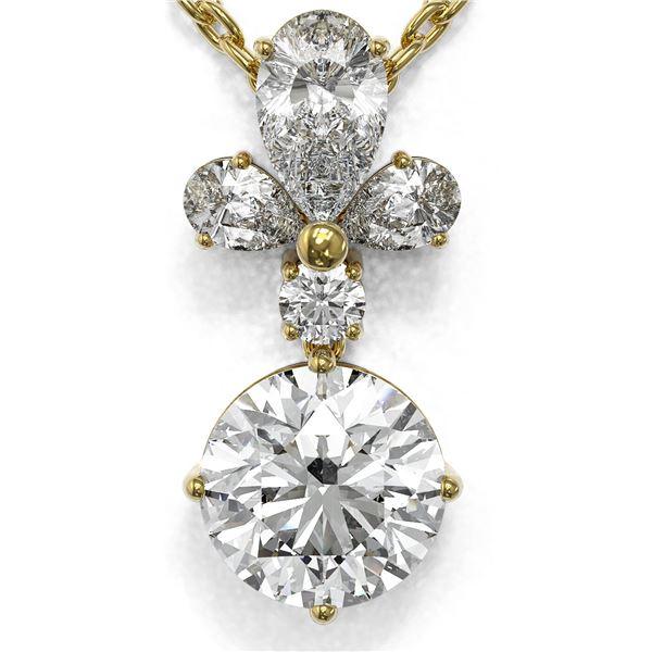 1.4 ctw Diamond Designer Necklace 18K Yellow Gold - REF-181W2H