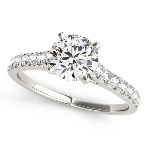 1 ctw Certified VS/SI Diamond Ring 18k White Gold - REF-111X8A
