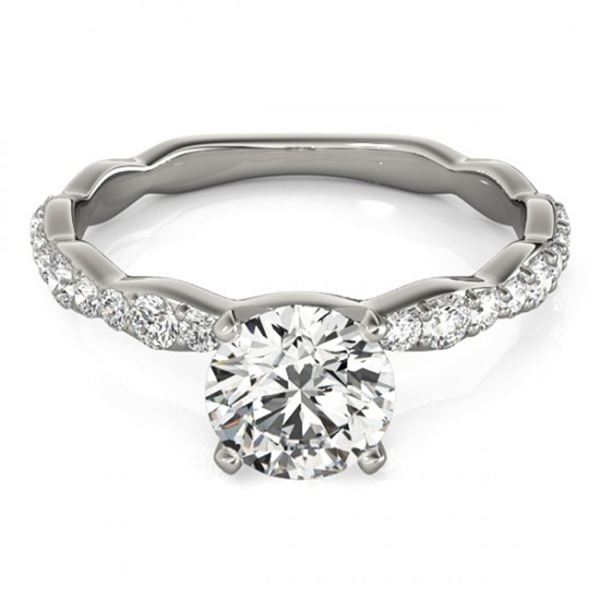 0.93 ctw Certified VS/SI Diamond Ring 18k White Gold - REF-87A8N