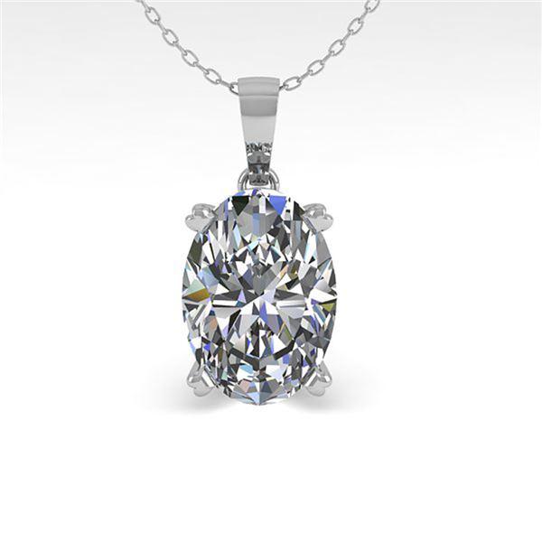 0.50 ctw VS/SI Oval Diamond Designer Necklace 18k Rose Gold - REF-70N2F