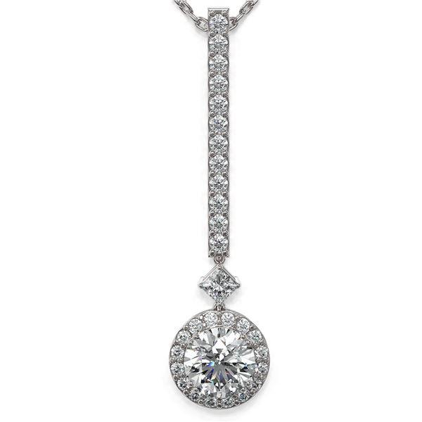 1.3 ctw Diamond Designer Necklace 18K White Gold - REF-156Y8X
