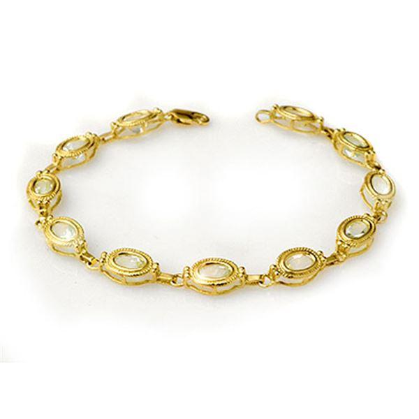 5.40 ctw Aquamarine Bracelet 10k Yellow Gold - REF-37W9H