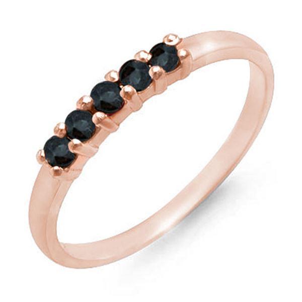 0.25 ctw Blue Sapphire Ring 10k Rose Gold - REF-8K2Y