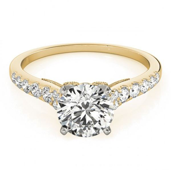 0.65 ctw Certified VS/SI Diamond Solitaire Ring 14k Yellow Gold - REF-48M3G