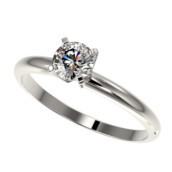 0.54 ctw Certified Quality Diamond Engagment Ring 10k White Gold - REF-40G8W