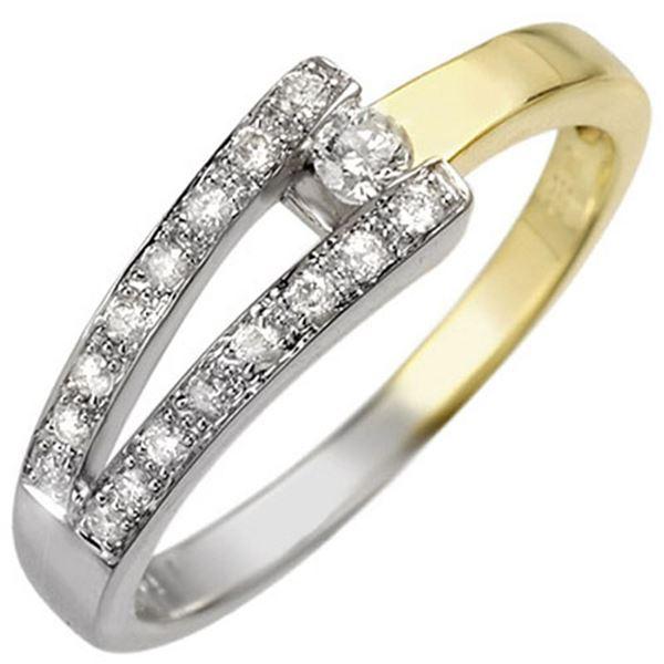 0.30 ctw Certified VS/SI Diamond Ring 10K 2-Tone 10k 2-Tone Gold - REF-19H4R