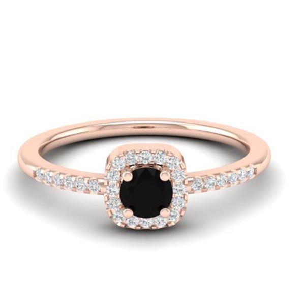 0.55 ctw Micro Pave VS/SI Diamond Ring Designer 14k Rose Gold - REF-22X2A