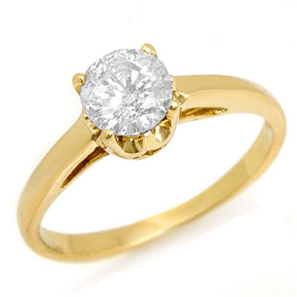 0.80 ctw Certified VS/SI Diamond Ring 14k Yellow Gold - REF-163W6H