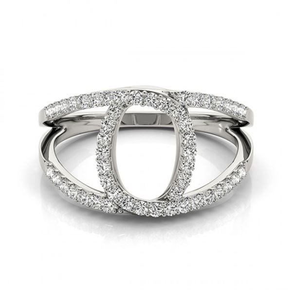 0.65 ctw VS/SI Diamond Fashion Ring 14k White Gold - REF-49K2Y