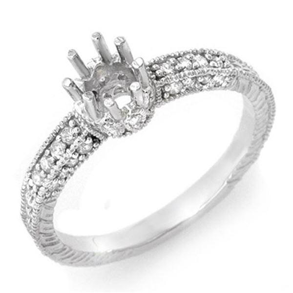 0.50 ctw Certified VS/SI Diamond Ring 18k White Gold - REF-41M3G