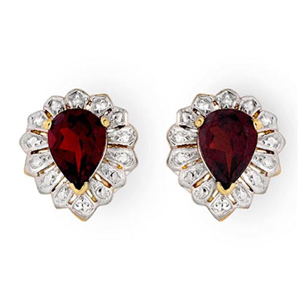 2.20 ctw Garnet Earrings 10k Yellow Gold - REF-11Y5X