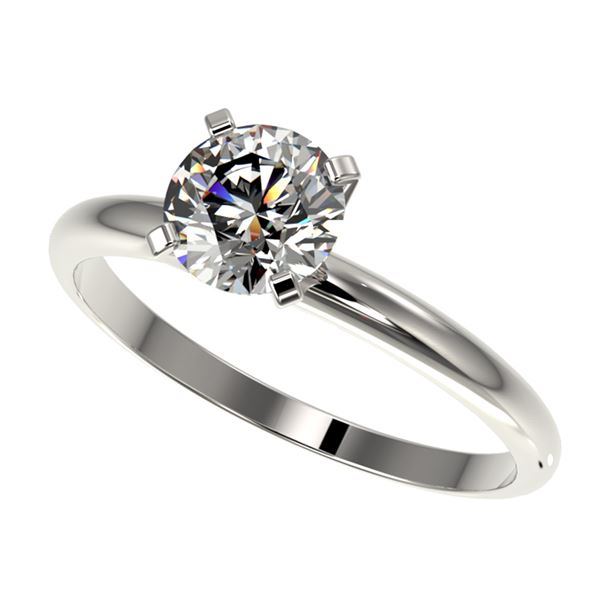 1.07 ctw Certified Quality Diamond Engagment Ring 10k White Gold - REF-141M3G