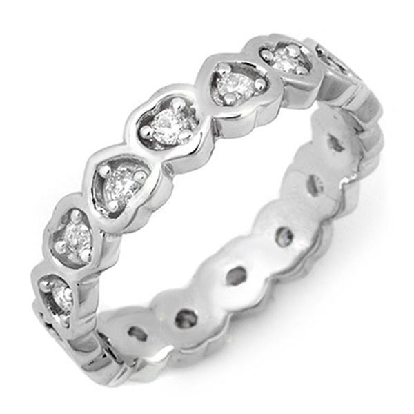 0.50 ctw Certified VS/SI Diamond Ring 10k White Gold - REF-28N2F