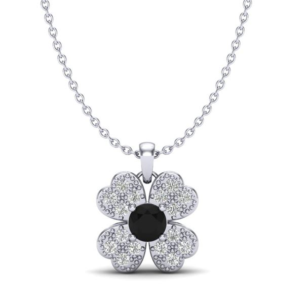 0.27 ctw Micro Pave VS/SI Diamond Certified Necklace 18k White Gold - REF-19N9F