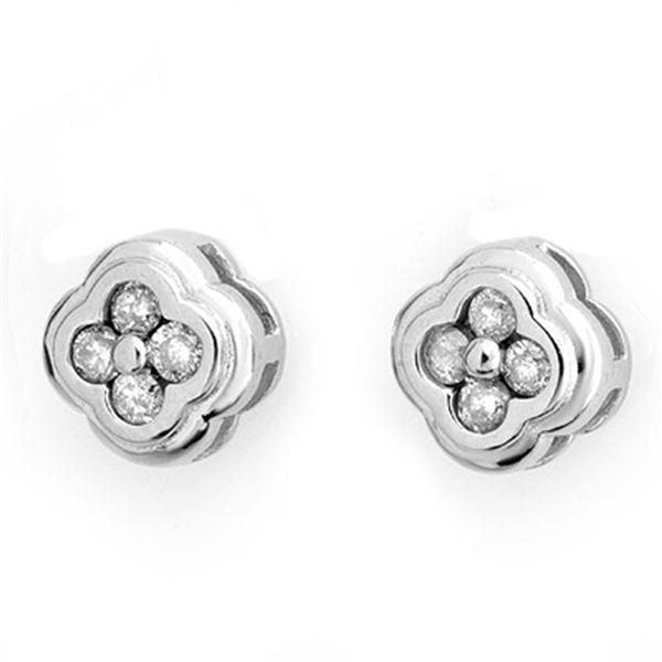 0.50 ctw Certified VS/SI Diamond Earrings 14k White Gold - REF-36N6F