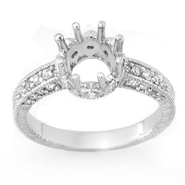 0.50 ctw Certified VS/SI Diamond Ring 18k White Gold - REF-50W2H