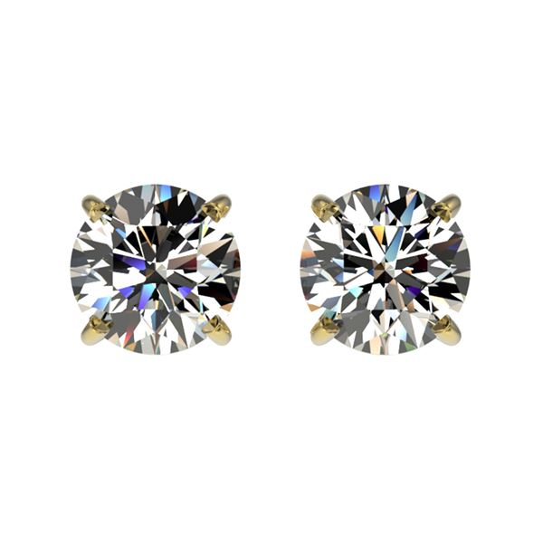 1.02 ctw Certified Quality Diamond Stud Earrings 10k Yellow Gold - REF-72N3F
