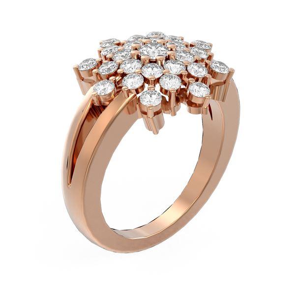 2 ctw Diamond Ring 18K Rose Gold - REF-158K2Y