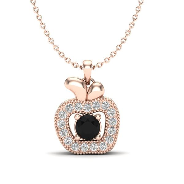 0.30 ctw VS/SI Diamond Certified Micro Pave Necklace 14k Rose Gold - REF-22A8N