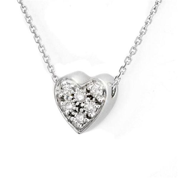 0.20 ctw Certified VS/SI Diamond Necklace 18k White Gold - REF-28W6H