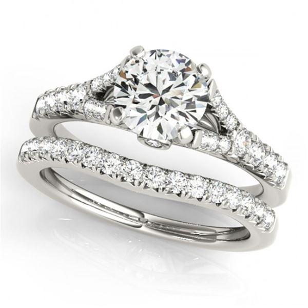 1.31 ctw Certified VS/SI Diamond 2pc Wedding Set 14k White Gold - REF-126H8R