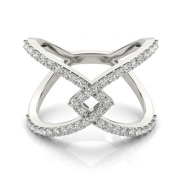 0.60 ctw VS/SI Diamond Fashion Ring 14k White Gold - REF-49R5K