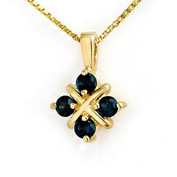 0.52 ctw Blue Sapphire Pendant 10k Yellow Gold - REF-5R5Y