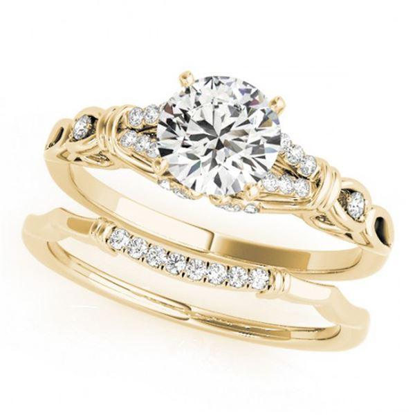 0.75 ctw Certified VS/SI Diamond 2pc Wedding Set 14k Yellow Gold - REF-107N8F