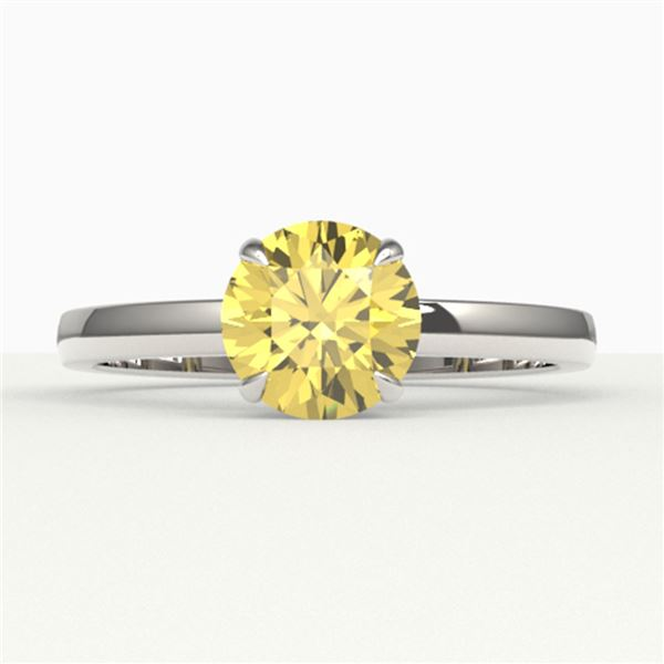 2 ctw Citrine Designer Engagment Ring 18k White Gold - REF-22H8R