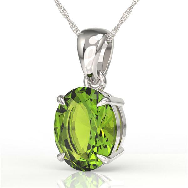 2.75 ctw Peridot Designer Necklace 18k White Gold - REF-23N2F