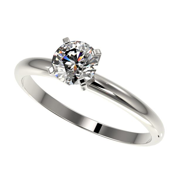 0.76 ctw Certified Quality Diamond Engagment Ring 10k White Gold - REF-68N2F