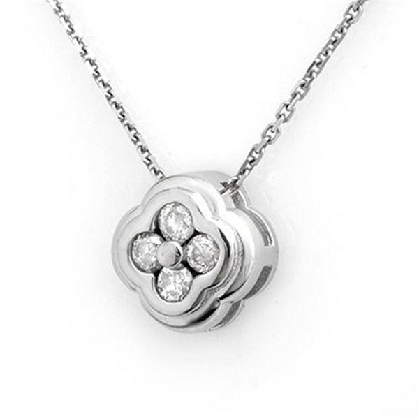 0.25 ctw Certified VS/SI Diamond Necklace 14k White Gold - REF-22F2M