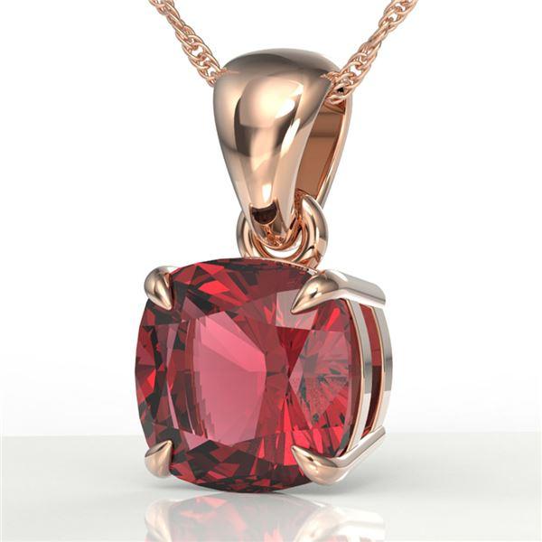 2 ctw Cushion Cut Pink Tourmaline Designer Necklace 14k Rose Gold - REF-30N2F