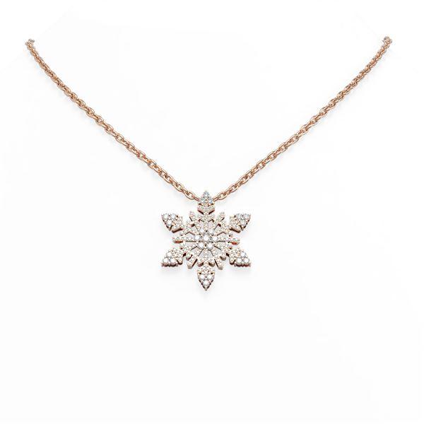 2.25 ctw Diamond Necklace 18K Rose Gold - REF-187X3A