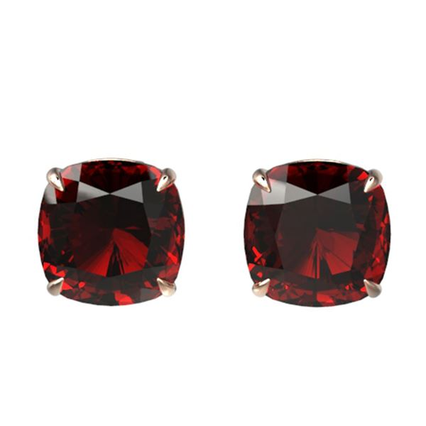 12 ctw Cushion Cut Garnet Designer Stud Earrings 14k Rose Gold - REF-26K8Y