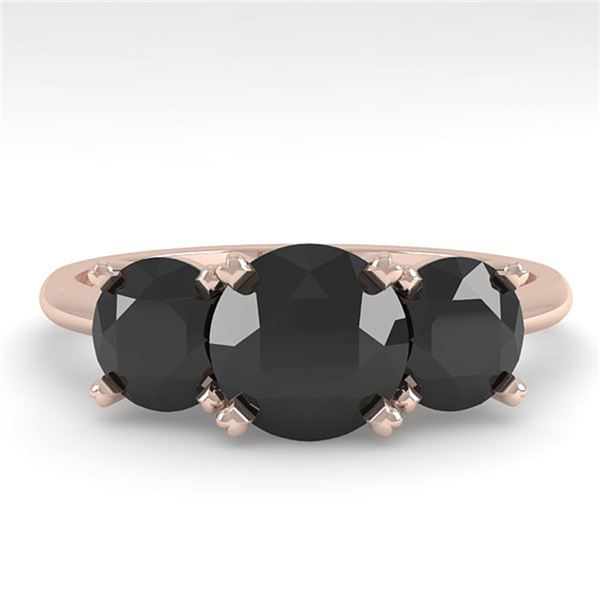 2 ctw Black Diamond Past Present Future Designer Ring 14k Rose Gold - REF-48N2F