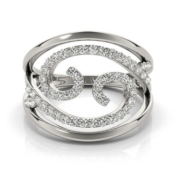 0.60 ctw VS/SI Diamond Fashion Ring 14k White Gold - REF-46N2F