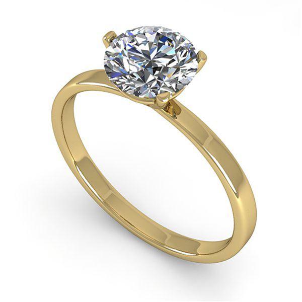 0.50 ctw Certified VS/SI Diamond Engagment Ring Martini 18k Yellow Gold - REF-82M5G