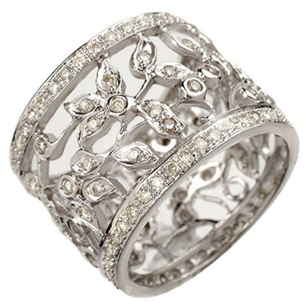 1.30 ctw Certified VS/SI Diamond Ring 14k White Gold - REF-143A6N