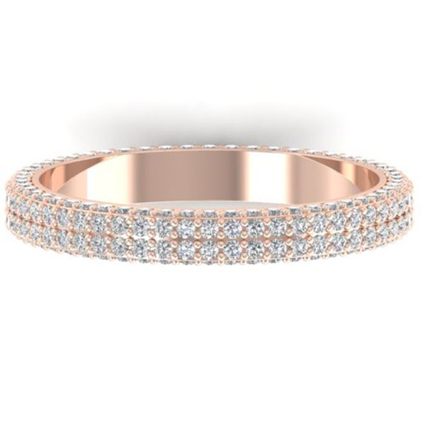 1.75 ctw Certified VS/SI Diamond Micro Eternity Ring 14k Rose Gold - REF-130X9A