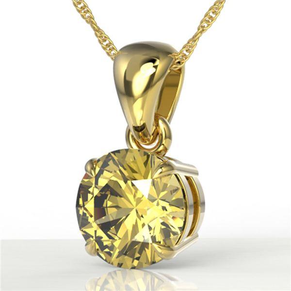 2 ctw Citrine Designer Necklace 18k Yellow Gold - REF-19Y6X