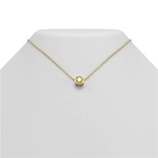 0.50 ctw Fancy Yellow Diamond Necklace 18K Yellow Gold - REF-102G8W
