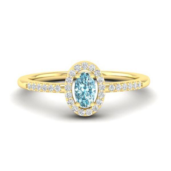 0.50 ctw TOPAZ & Micro Pave VS/SI Diamond Ring 18k Yellow Gold - REF-23X5A