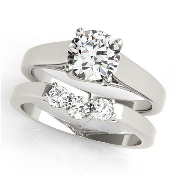 0.6725 ctw Certified VS/SI Diamond 2pc Set Wedding 14k White Gold - REF-78G8W