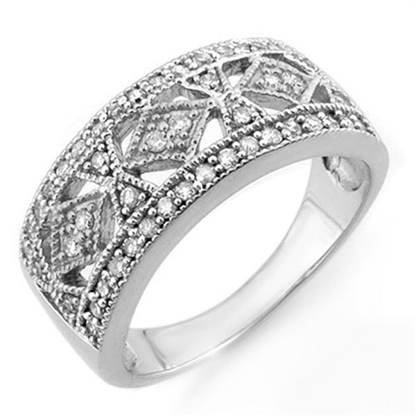0.50 ctw Certified VS/SI Diamond Ring 14k White Gold - REF-50R2K