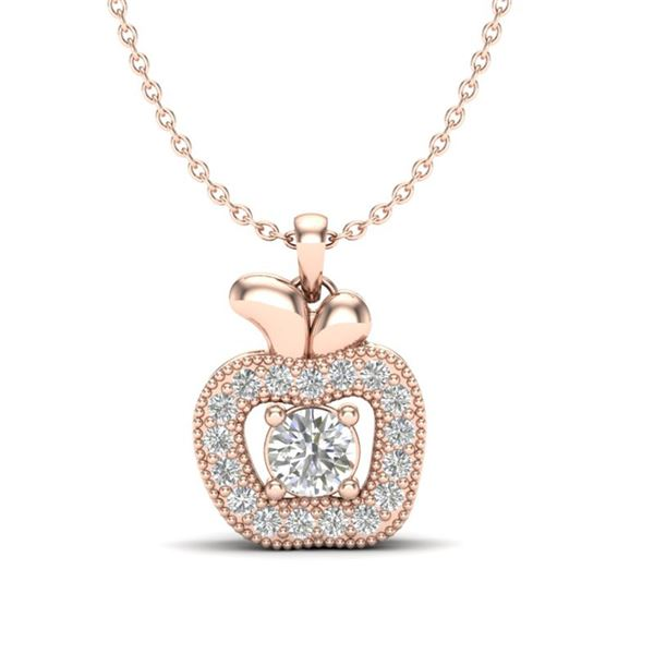 0.30 ctw VS/SI Diamond Certified Micro Pave Necklace 14k Rose Gold - REF-29N2F