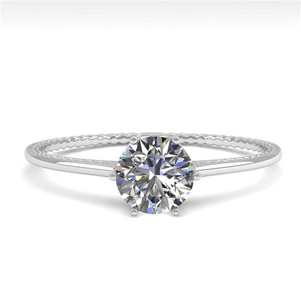 0.51 ctw VS/SI Diamond Engagment Ring 18k White Gold - REF-96H2R