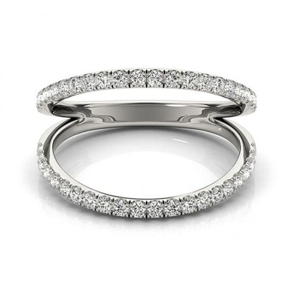 0.33 ctw VS/SI Diamond Fashion Ring 18k White Gold - REF-45M5G