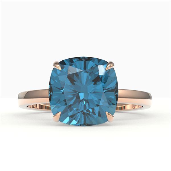6 ctw London Blue Topaz Designer Engagment RNG 14k Rose Gold - REF-23H8R